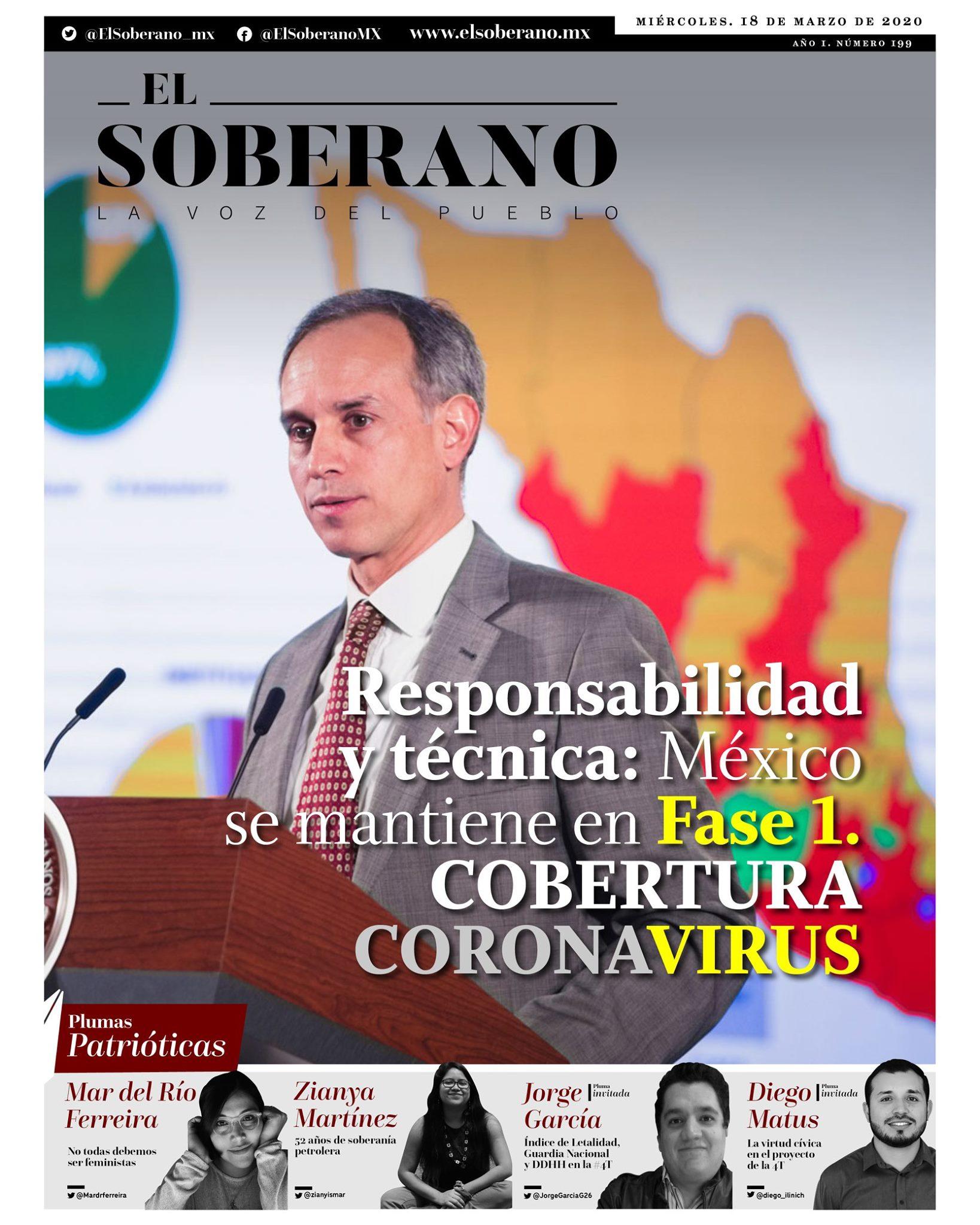 México se mantiene en Fase 1 #Covid_19