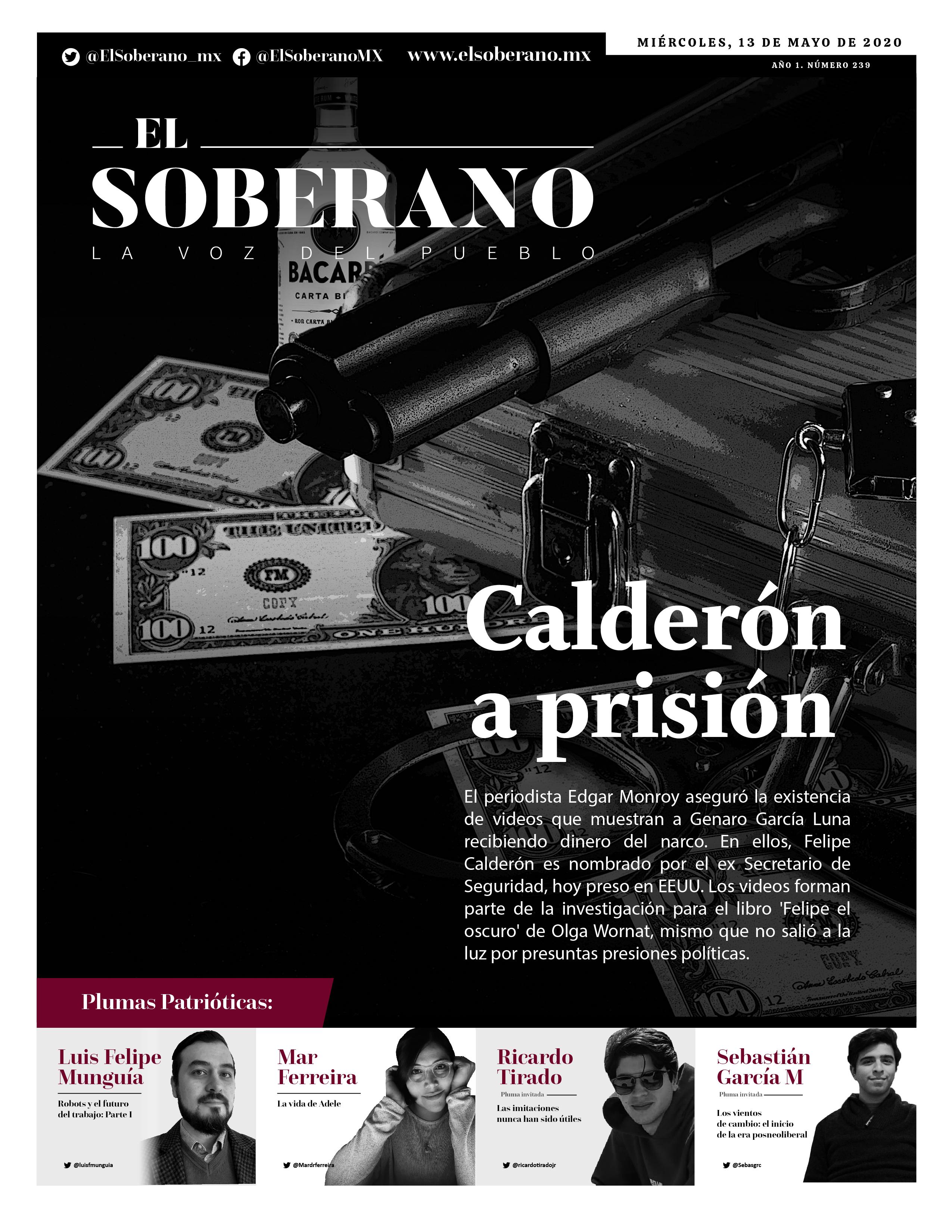 Calderón a prisión