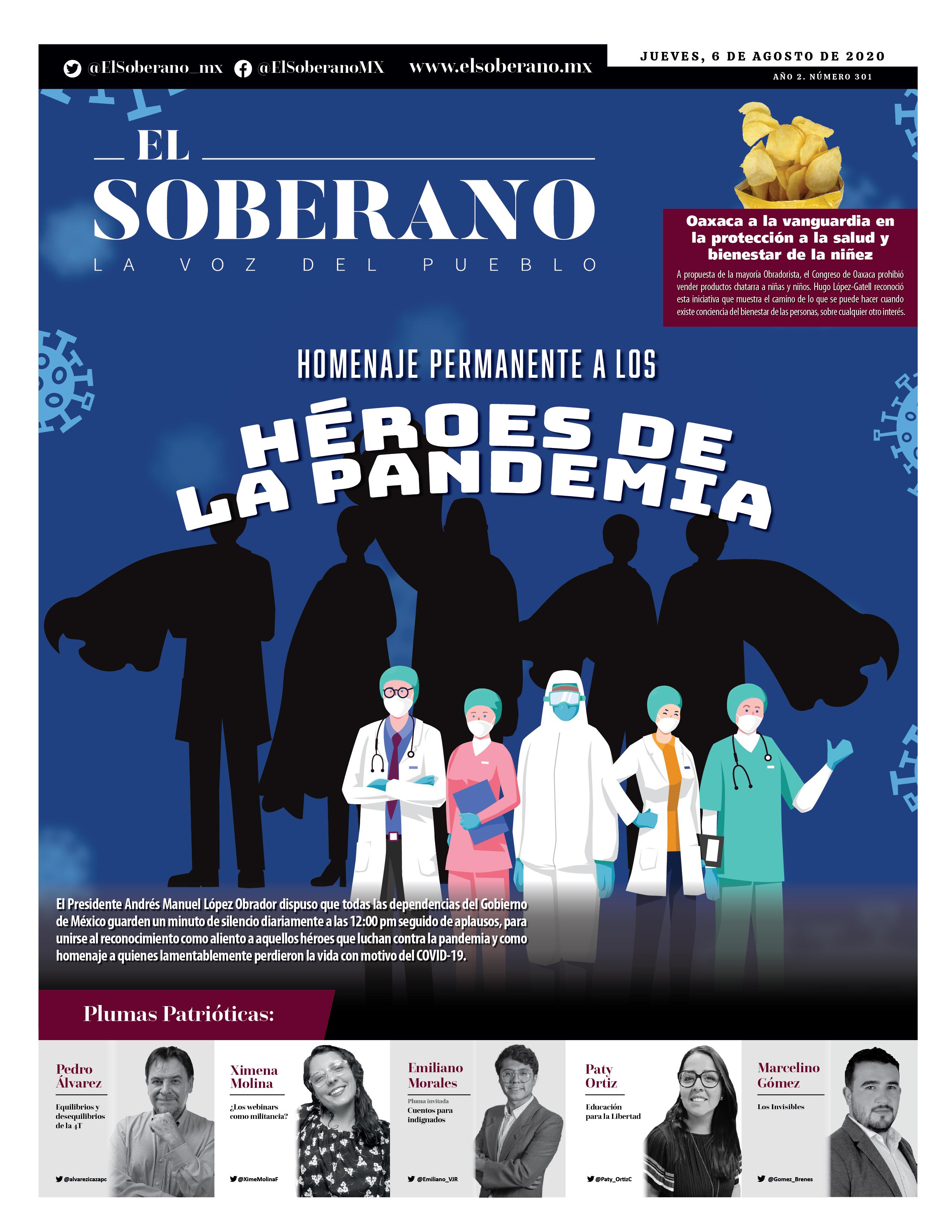 Homenaje permanente a los héroes de la pandemia