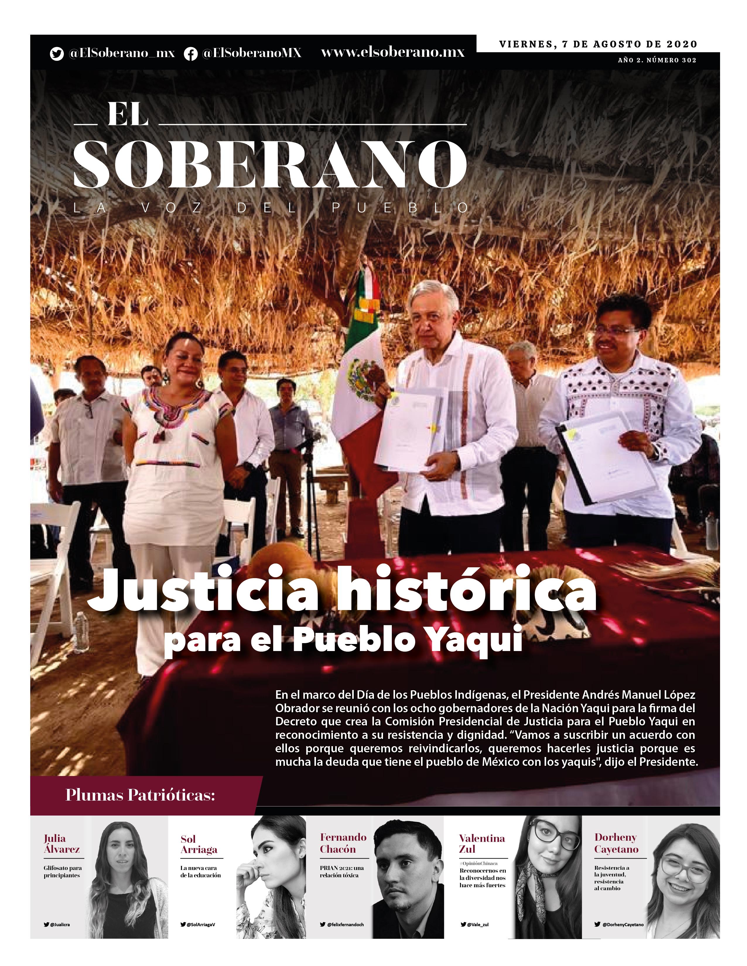 Justicia histórica para el Pueblo Yaqui