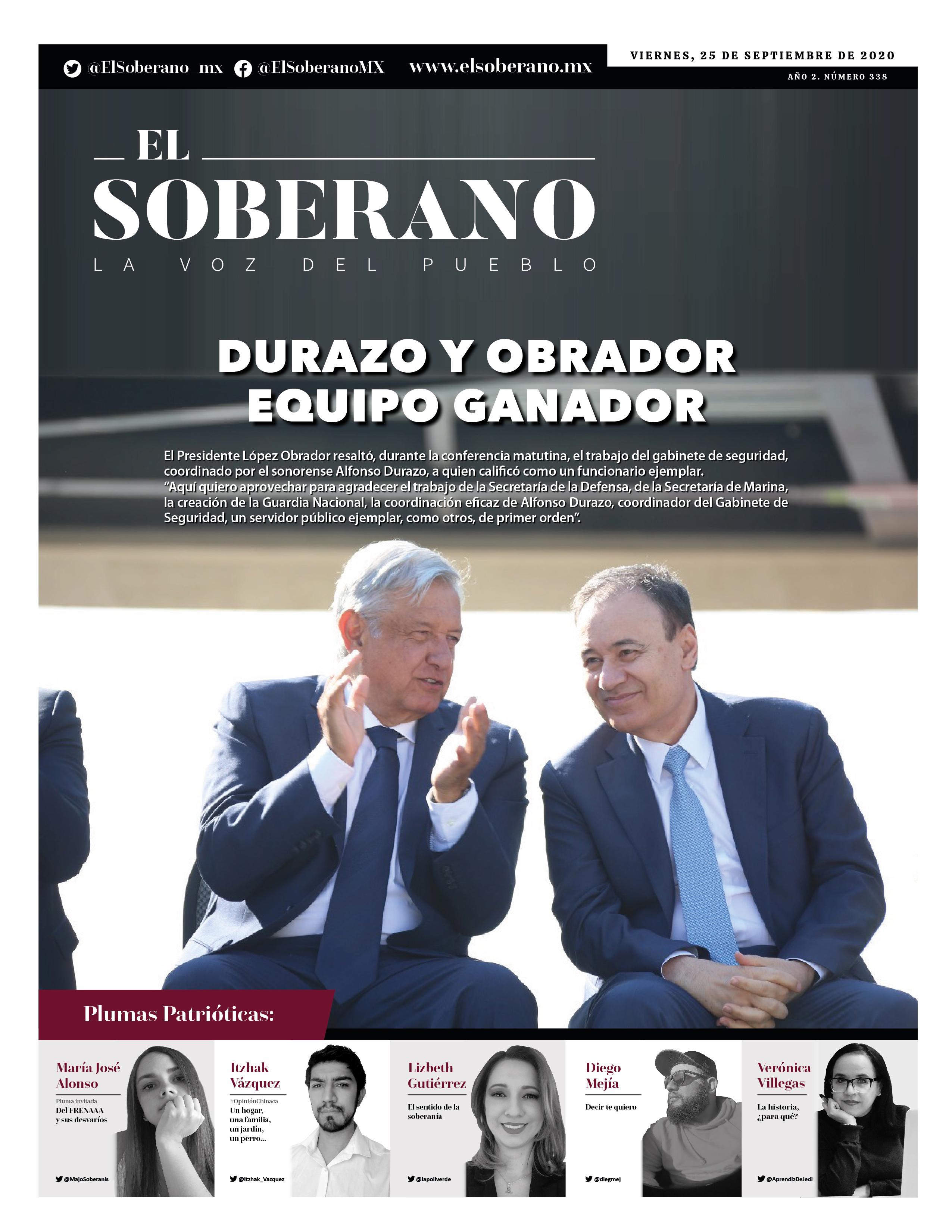 DURAZO Y OBRADOR EQUIPO GANADOR