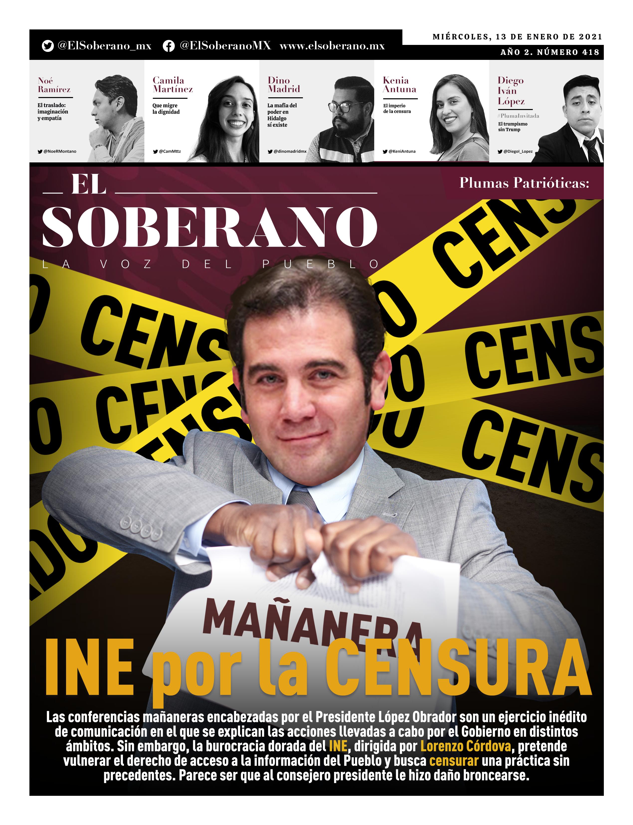 INE por la censura