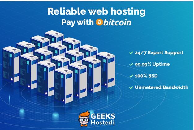 GeeksHosted, the reliable web hosting for geeks, by geeks, now accepts crypto