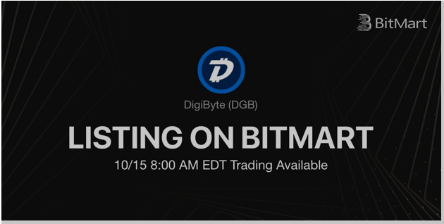 BitMart lists the UTXO-based blockchain - DigiByte [DGB]