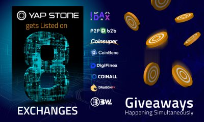 Yap Stone gets Listed on 8 exchanges, giveaways happening simultaneously