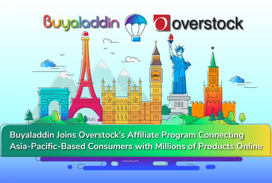 Buyaladdin joins Overstock's affiliate program connecting Asia-Pacific-based consumers with millions of products online