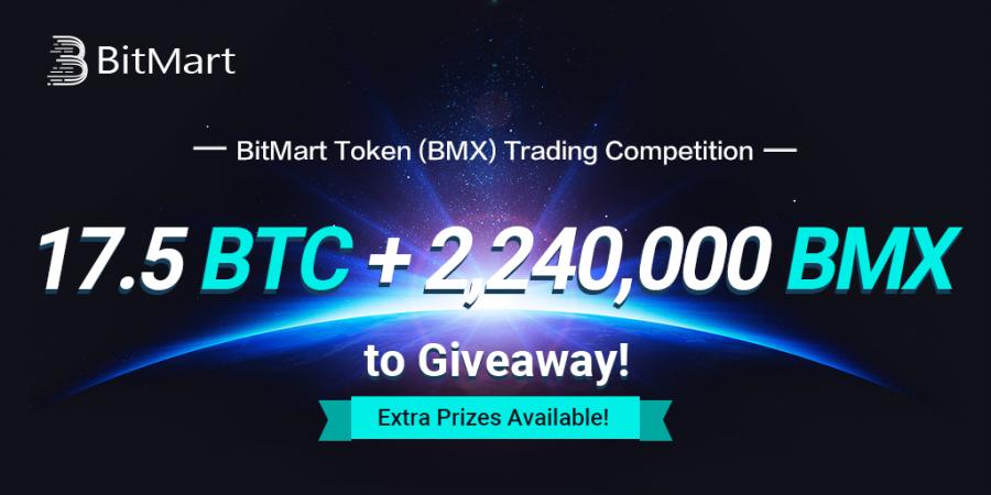 BitMart Christmas BMX trading competition - 17.5 BTC + 2,240,000 BMX giveaway