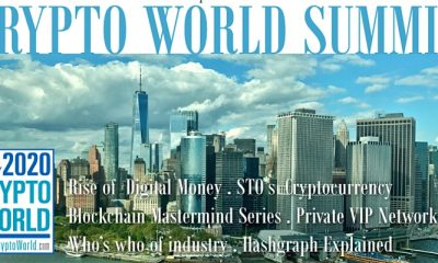 'The Future of Security Tokens', 2020 Crypto World Summit, to Address Latest Blockchain Developments