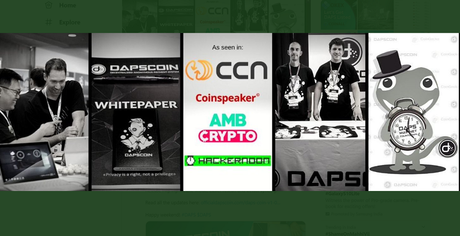 DAPS platform, new privacy platform, to compete with Monero and Zcash