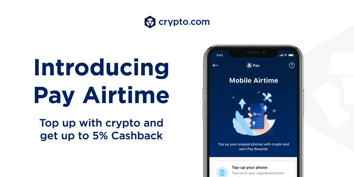 Crypto.com Pay Introduces Pay Airtime