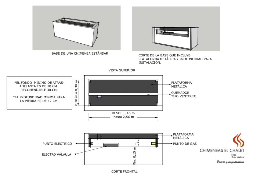 Camabaja Especificaciones Requerimientos Chimenea A Gas Chimeneas El Chalet