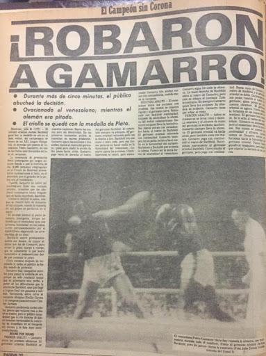 """A 44 años de la medalla olímpica de Pedro Gamarro: """"El día que le robaron el oro""""   Contrapunto.com"""