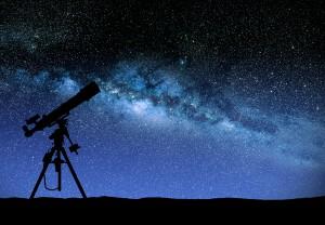 Telescope watching the wilky way