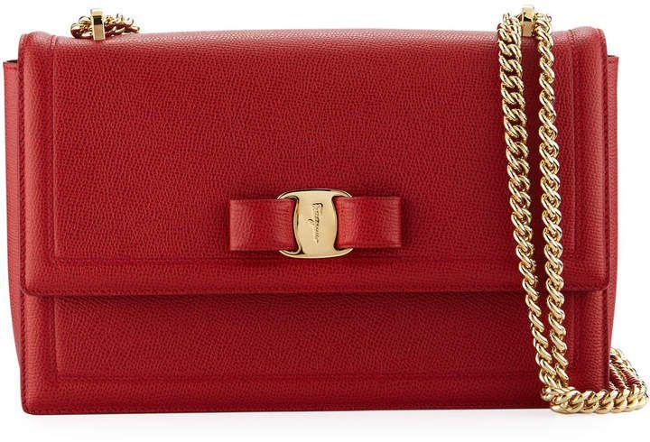 Salvatore Ferragamo Miss Vara Mini Crossbody Clutch Bag in Red