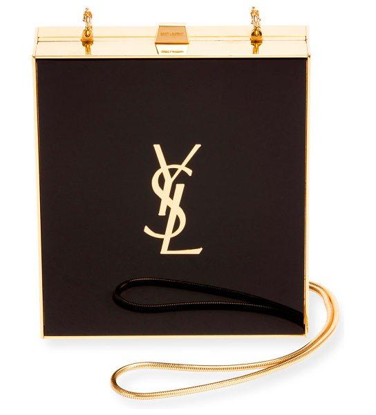 Saint Laurent Tuxedo Box Minaudiere in Black