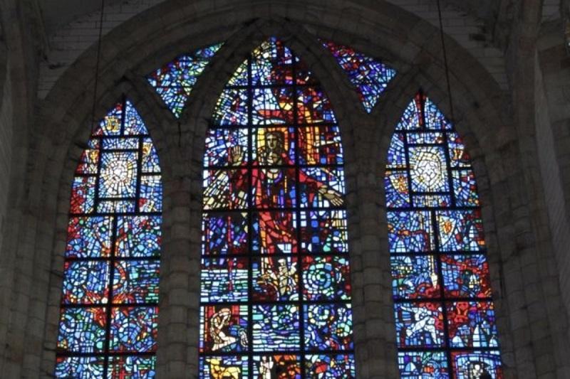 Vitral na Igreja de São Jorge na Cidade do Cabo