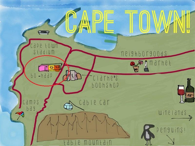 Bo Kaap na Cidade do Cabo - Mapa