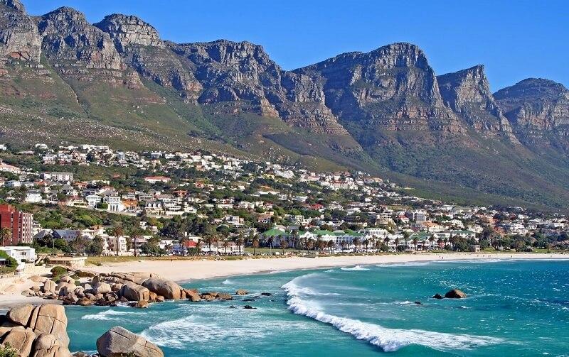 Camps Bay na Cidade do Cabo