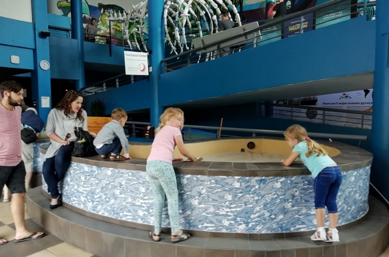 Crianças no Two Oceans Aquarium na Cidade do Cabo