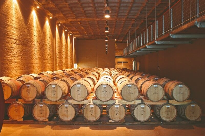Barris de vinho em Constantia