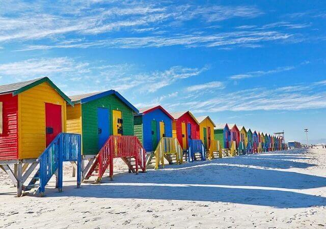 Muizenberg Beach na Cidade do Cabo
