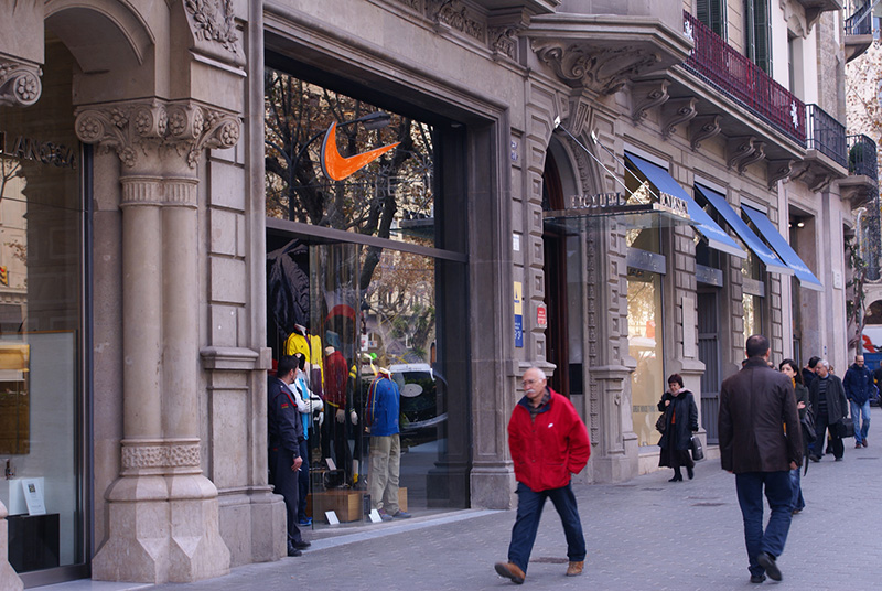 Loja da Nike em Las Ramblas