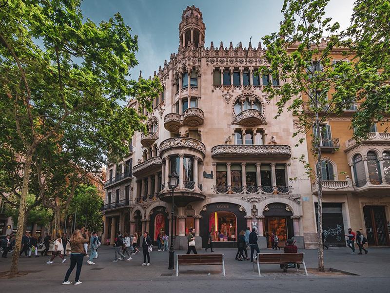 Passeig de Gràcia em Barcelona