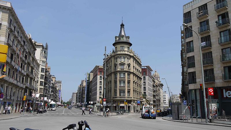 Rua Pelai em Barcelona