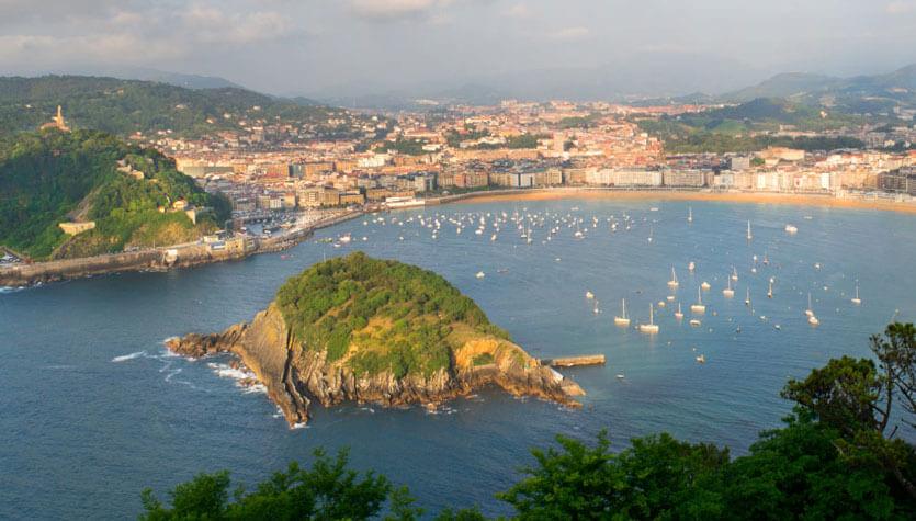 Vista de San Sebastián
