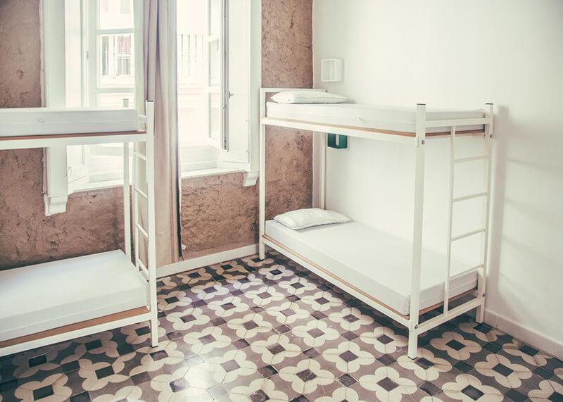 Dormitório no South Hostel Cádiz