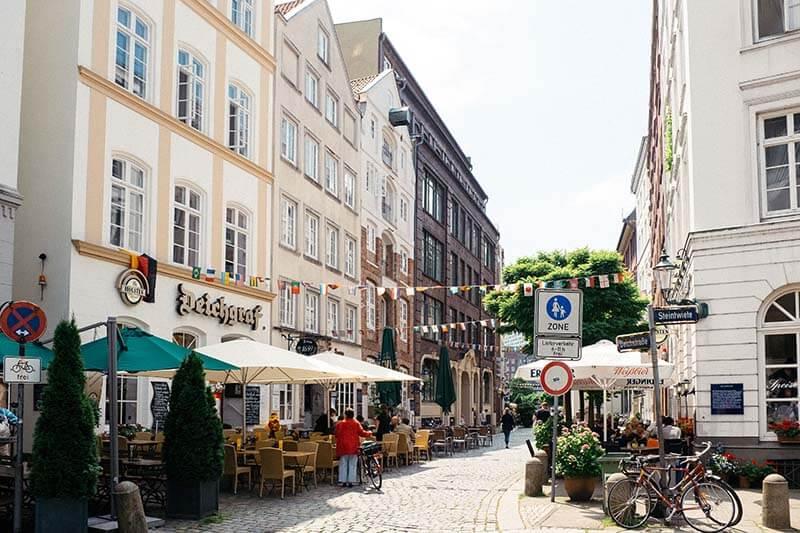 Rua Deichstrasse em Hamburgo