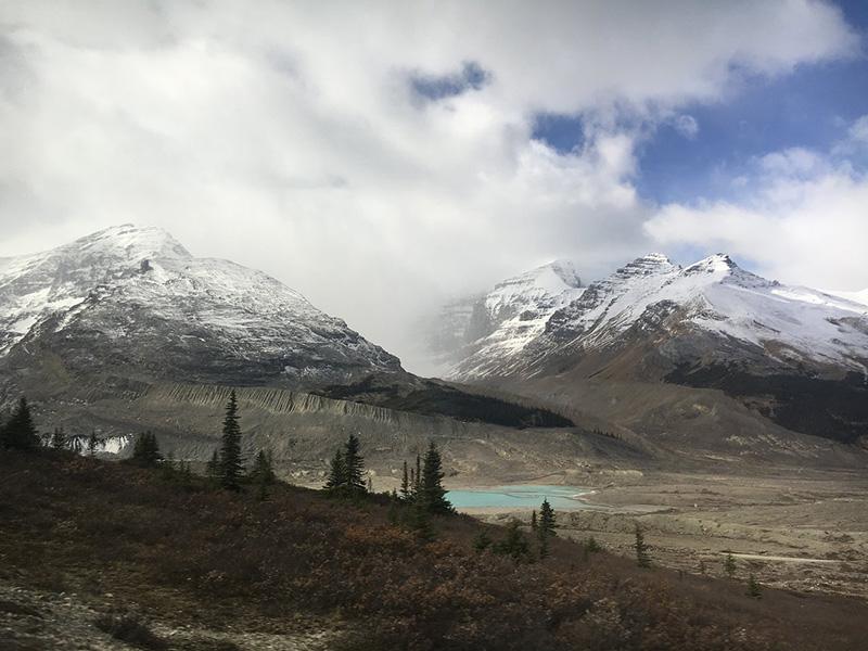 Vista do Columbia Icefield Discovery em Calgary
