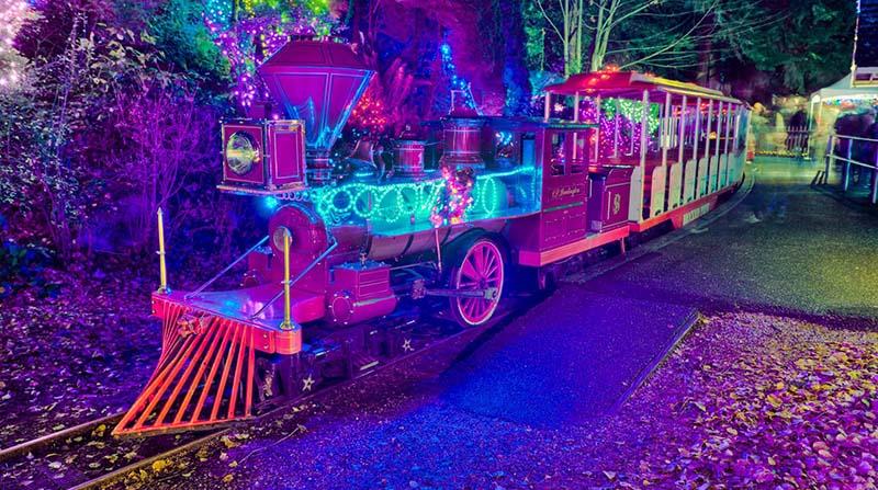 Bright Nights Christmas Train em Stanley Park em Vancouver