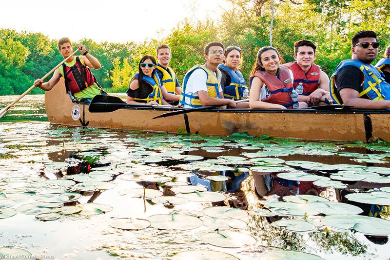 Beleza da excursão de canoa pelas Ilhas de Toronto
