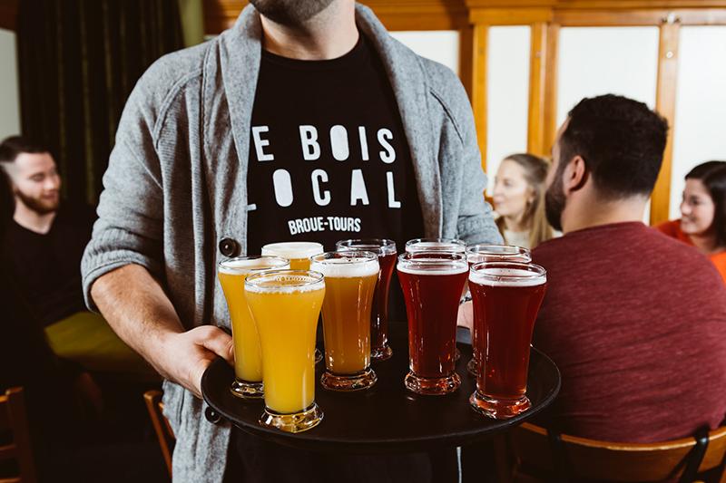 Degustação da excursão por cervejarias em Montreal