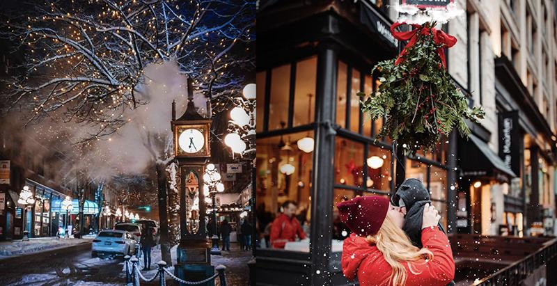 Gastown no Natal em Vancouver