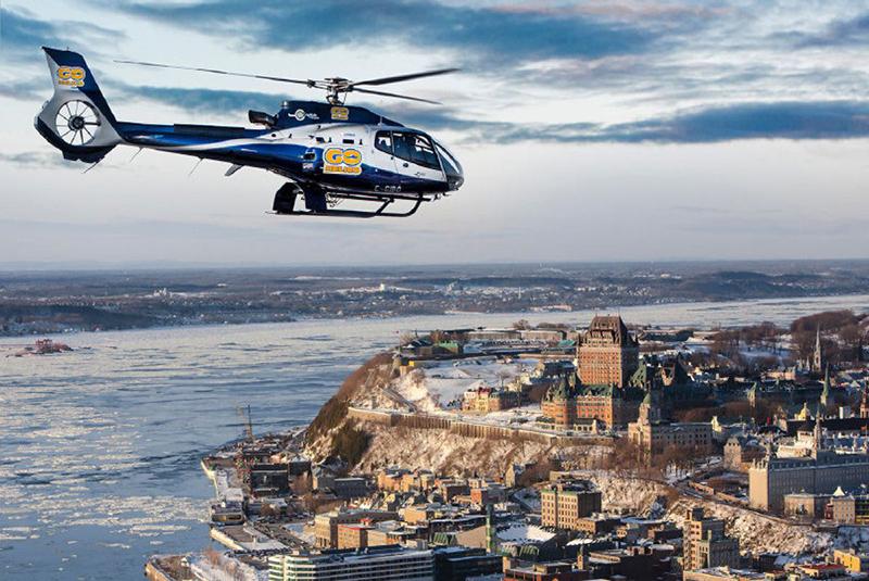 Vistas do passeio de helicóptero em Montreal