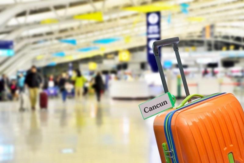 Mala em aeroporto de Cancún