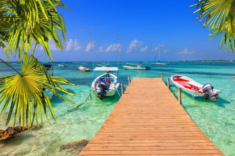 Praia com visual belíssimo em Cancún
