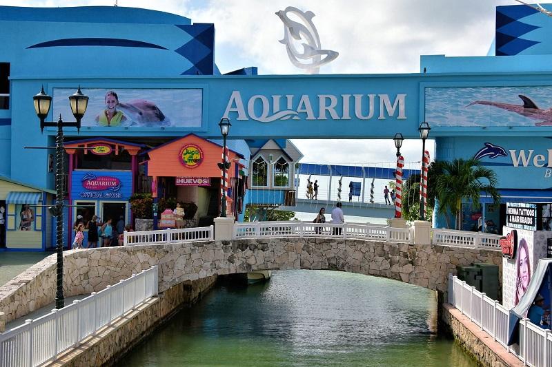 Aquário no Shopping La Isla em Cancún