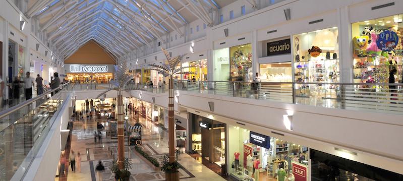 Shopping em Cancún - Área interna