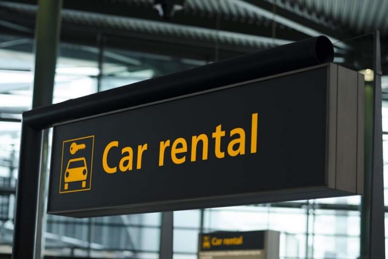 Placa de aluguel de carro