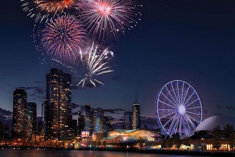 Ano Novo em Chicago: Navy Pier