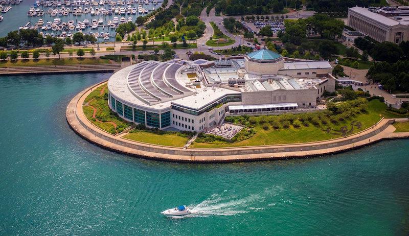 Shedd Aquarium em Chicago: edifício do aquário