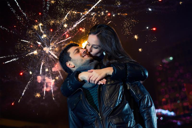 Ano Novo em Chicago: beijo da meia-noite