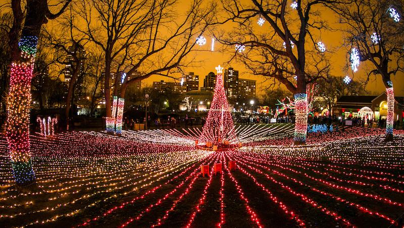 Natal em Chicago: Lincoln Park Zoo