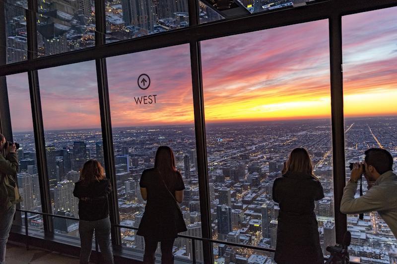 360 Chicago Observation Deck: pôr do sol