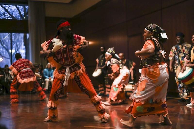 Apresentação no DuSable Museum of African American History em Chicago