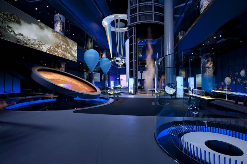 Museum of Science and Industry em Chicago: interior do museu