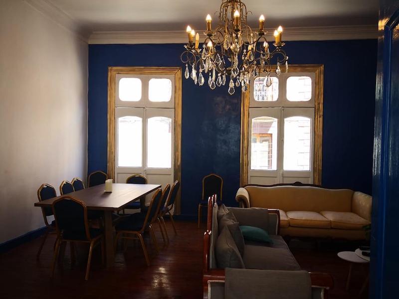 Sala do Hostel Casa Victoria em Valparaíso
